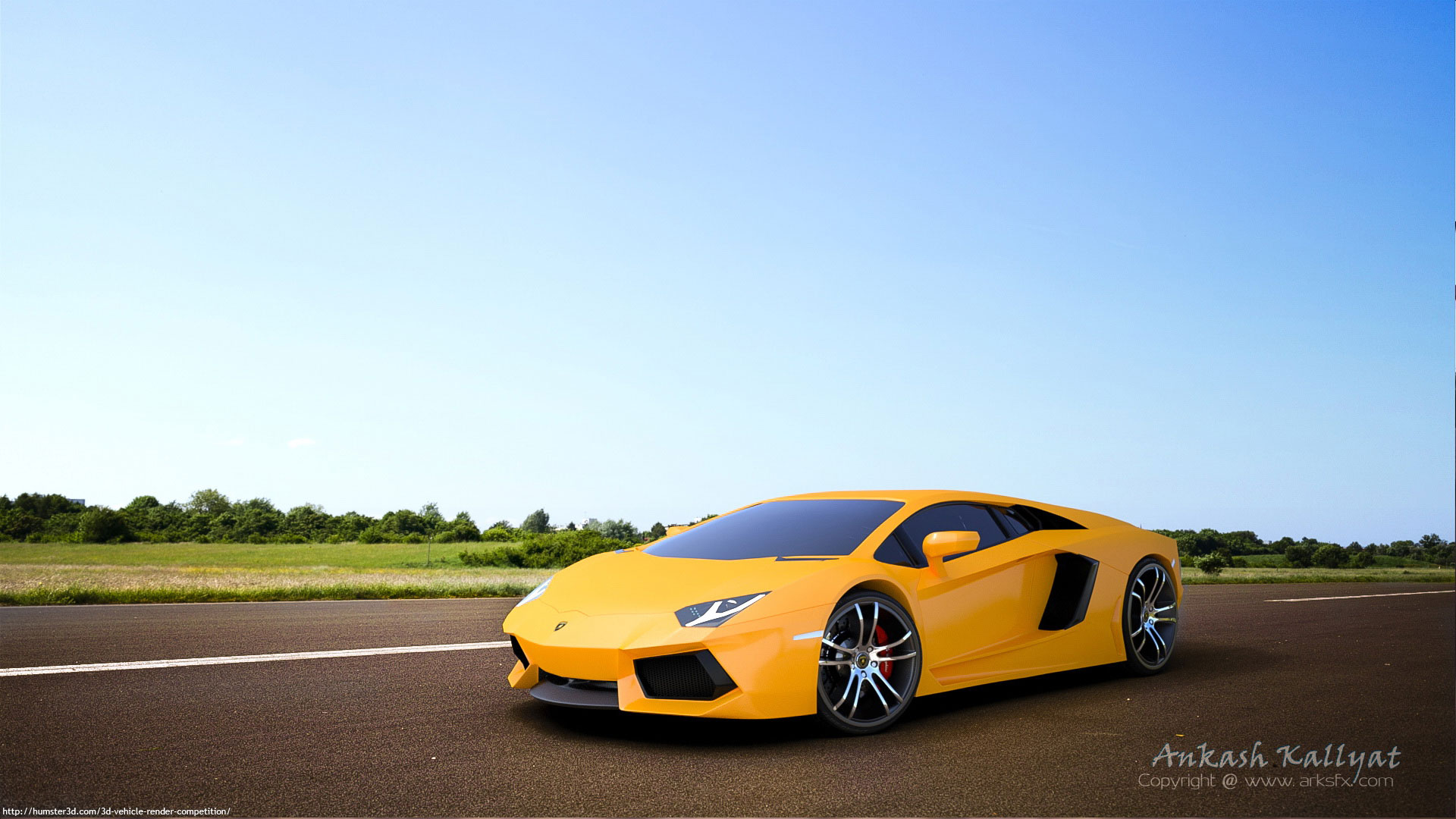 Lamborghini Aventador 3d art