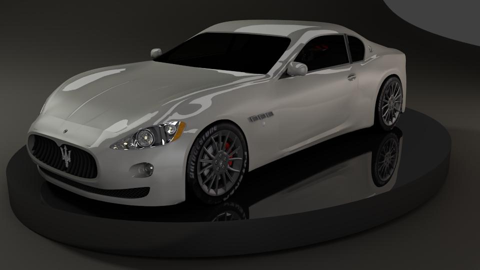 Maserati Granturismo 3d art
