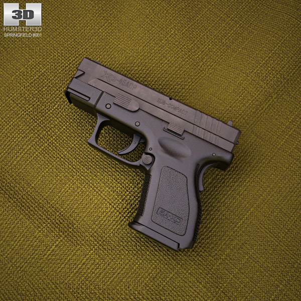 3D model of Springfield Armory XD (HS2000) 3.5 inch sub-compact