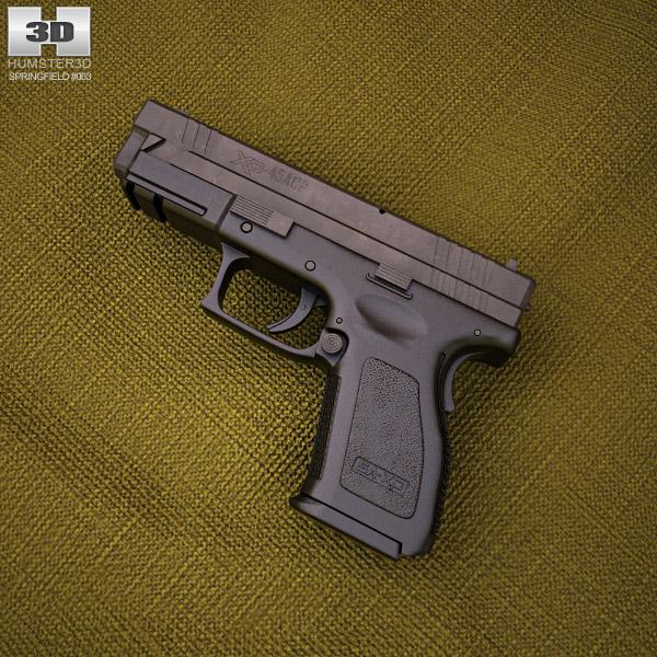 Springfield Armory XD (HS2000) 4 inch compact 3D模型