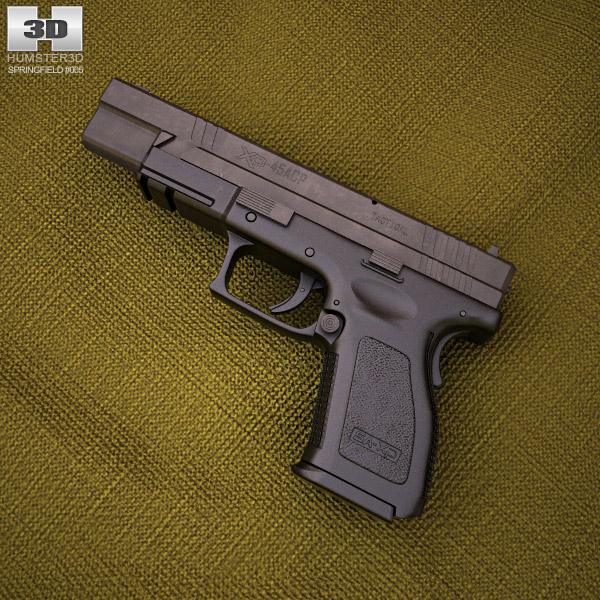 3D model of Springfield Armory XD (HS2000) 5 inch compact