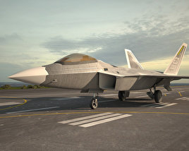 3D model of Lockheed Martin F-22 Raptor