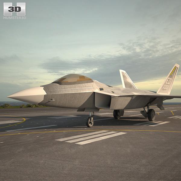 Lockheed Martin F-22 Raptor 3D model