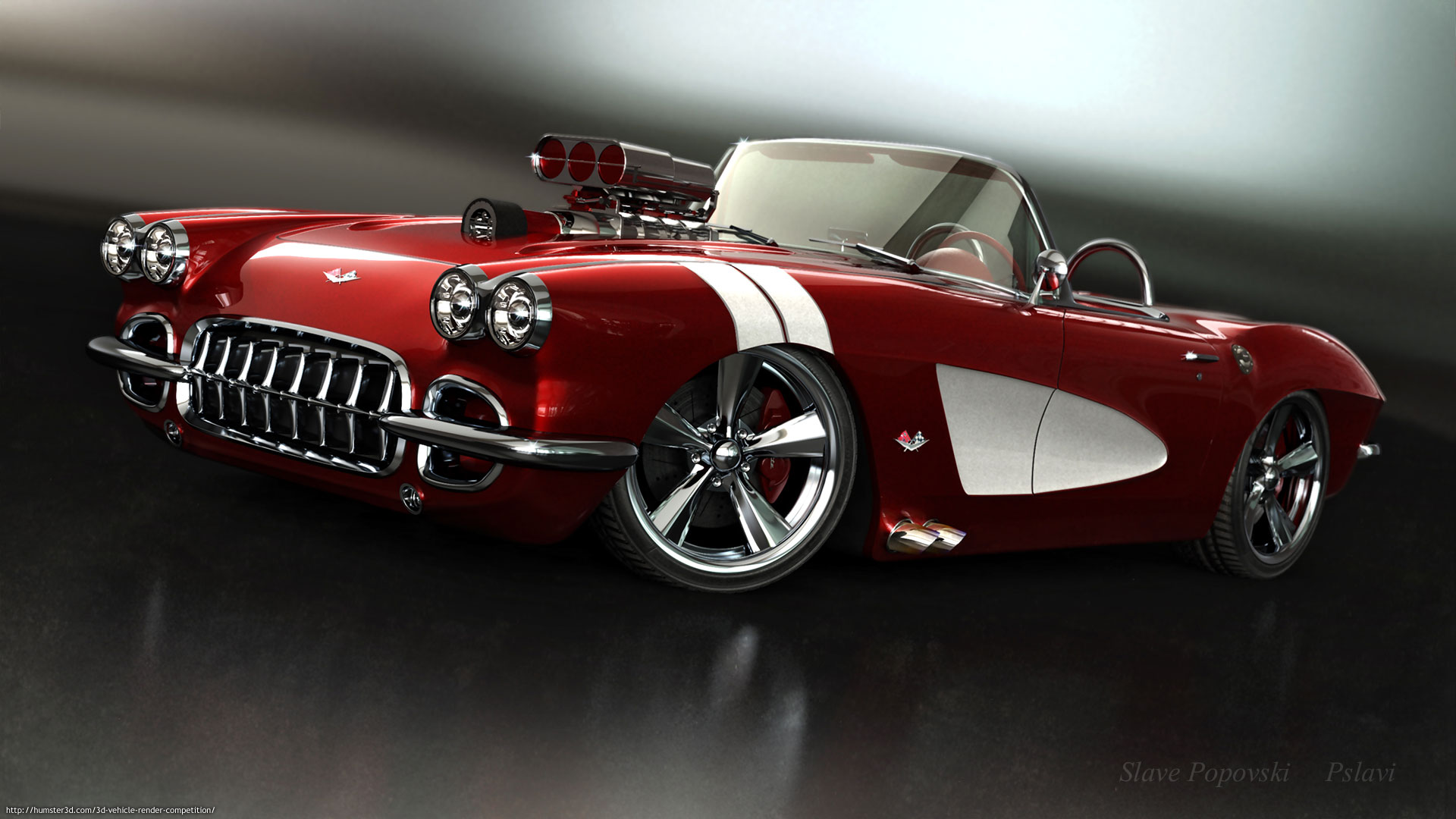 My 59 corvette model 3d art