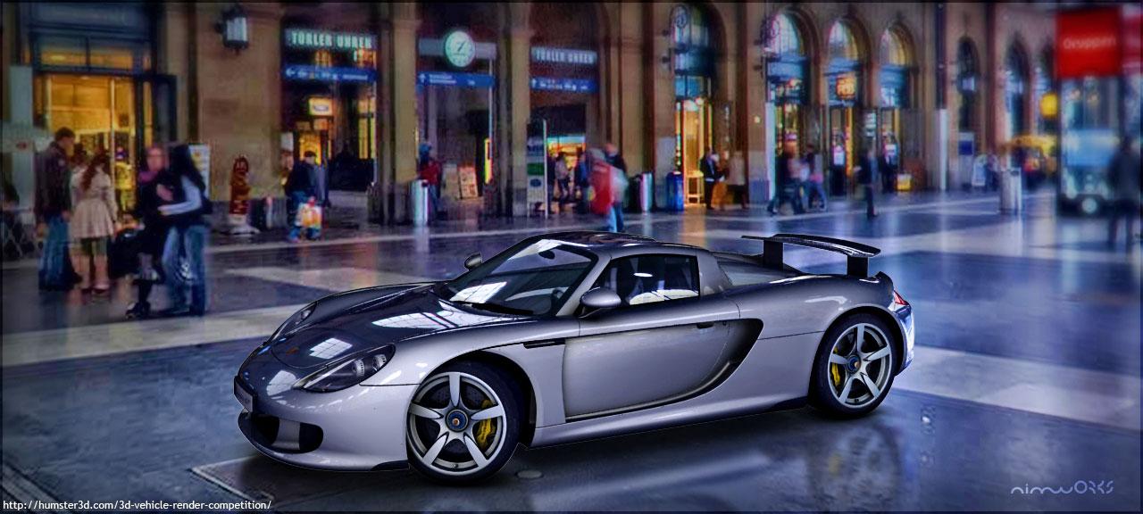 CG rendering of Porsche 911 Carrera GT 3d art