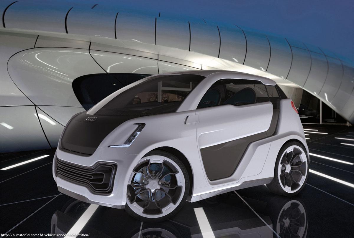 Audi city car concept 3d art
