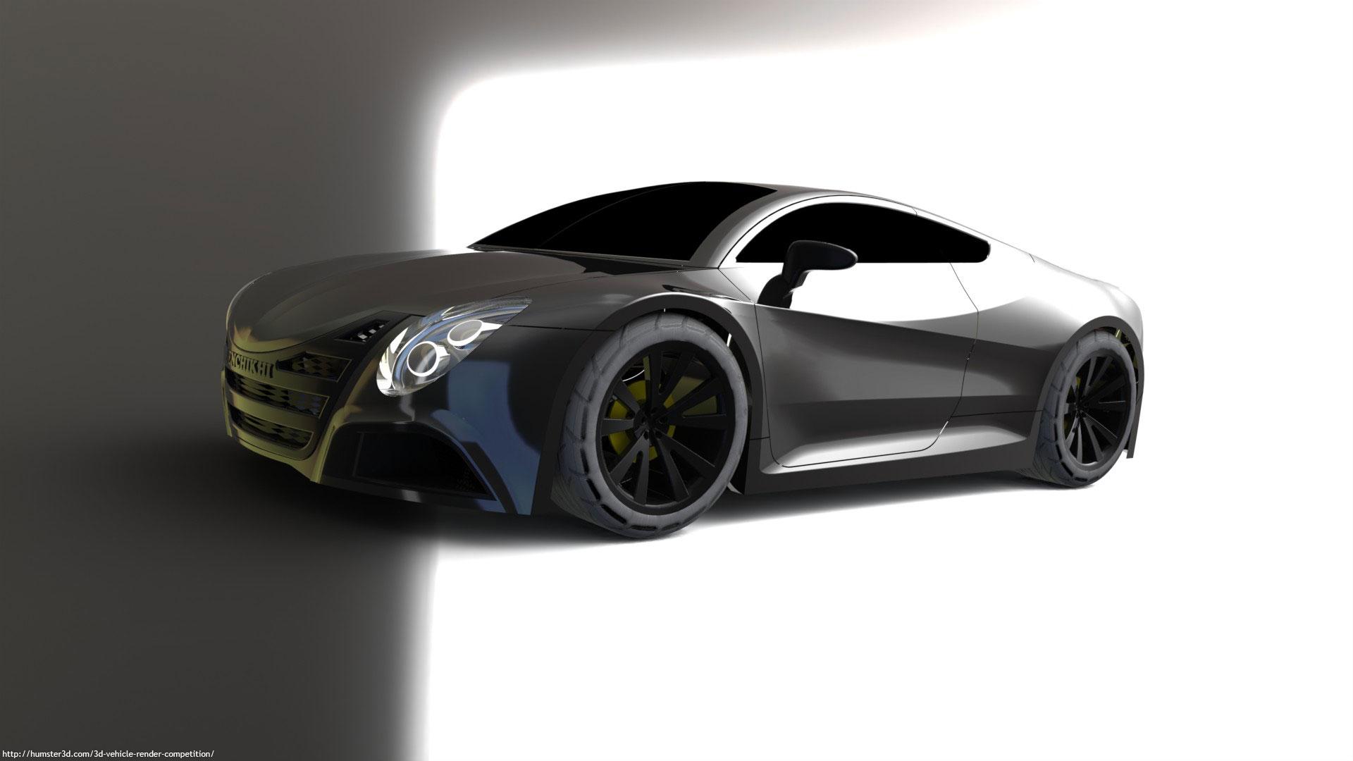 Casablanca concept car 3d art