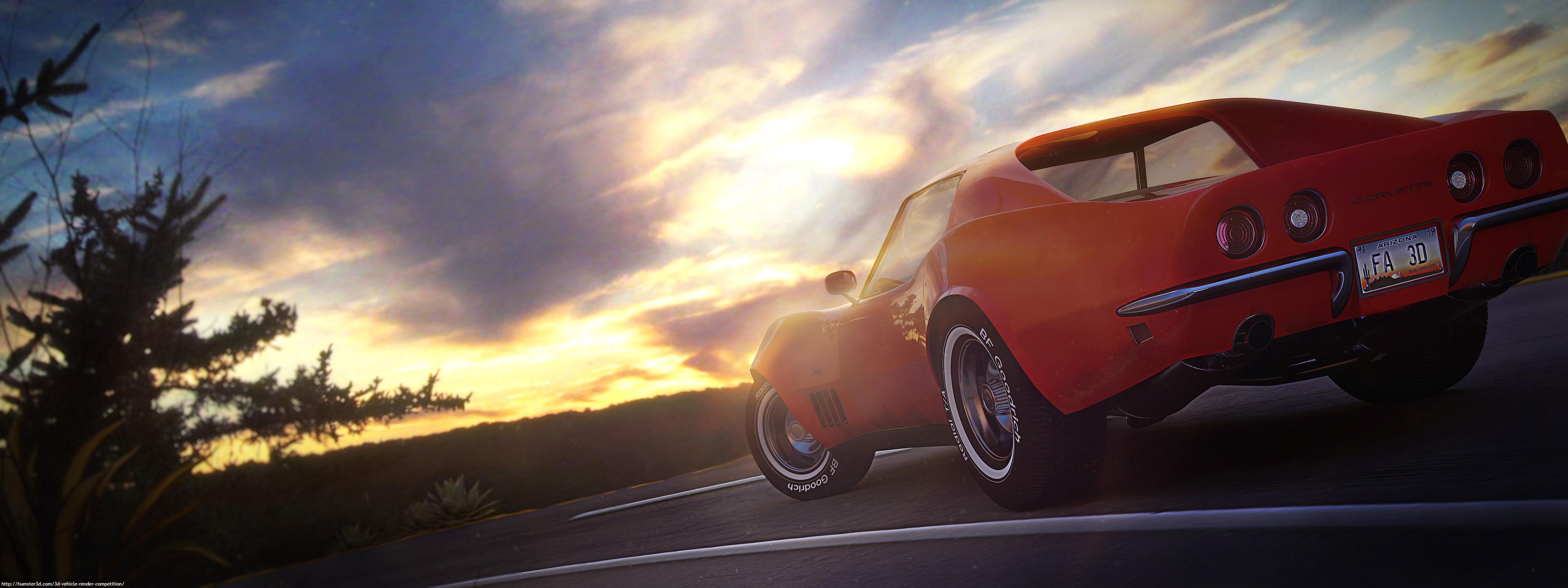 Chevrolet Corvette C3 3d art