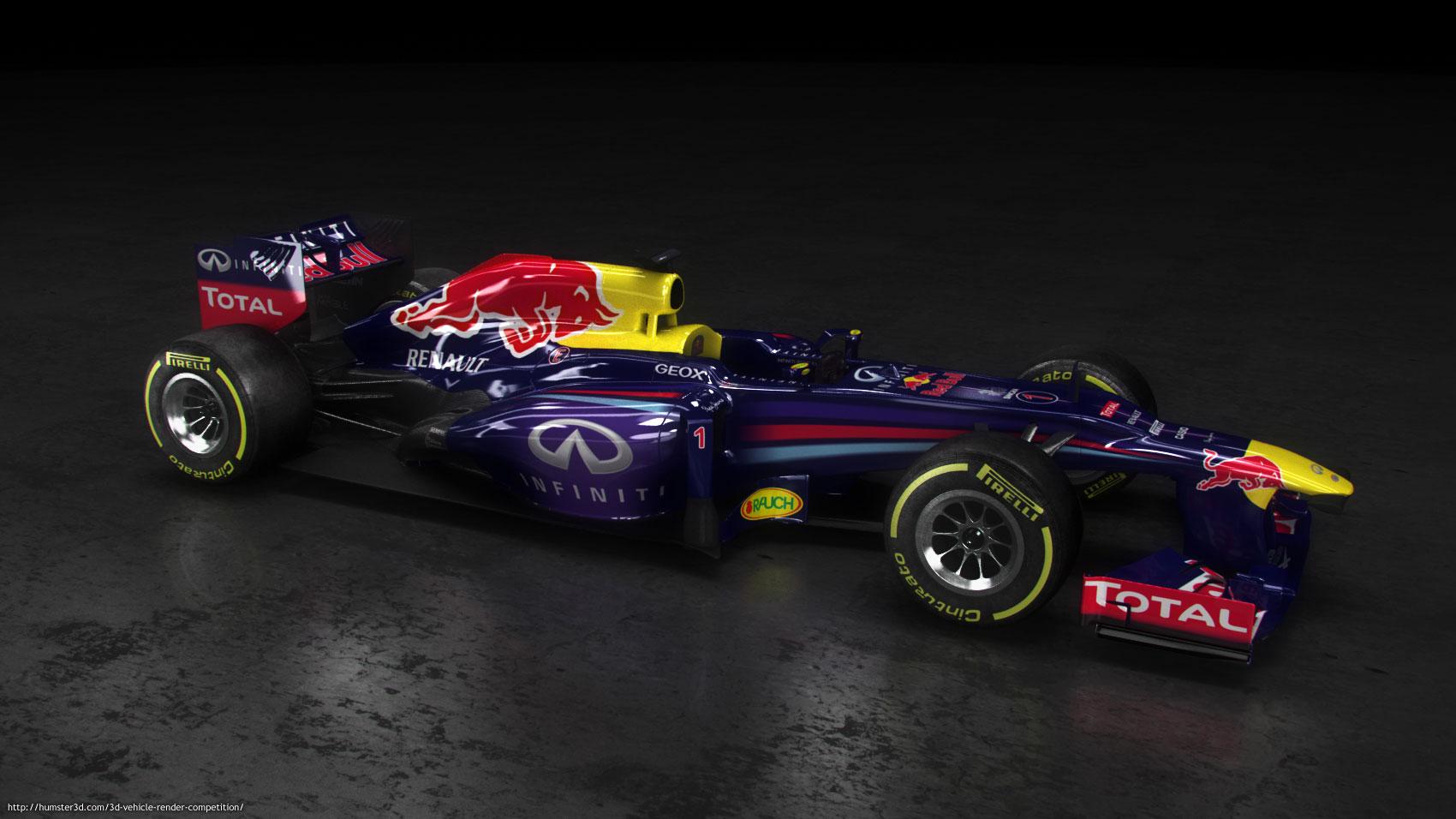 F1 Red Bull RB9 3d art