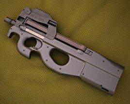 3D model of FN P90