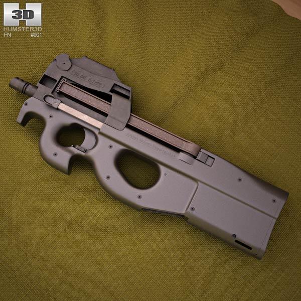 FN P90 Modello 3D