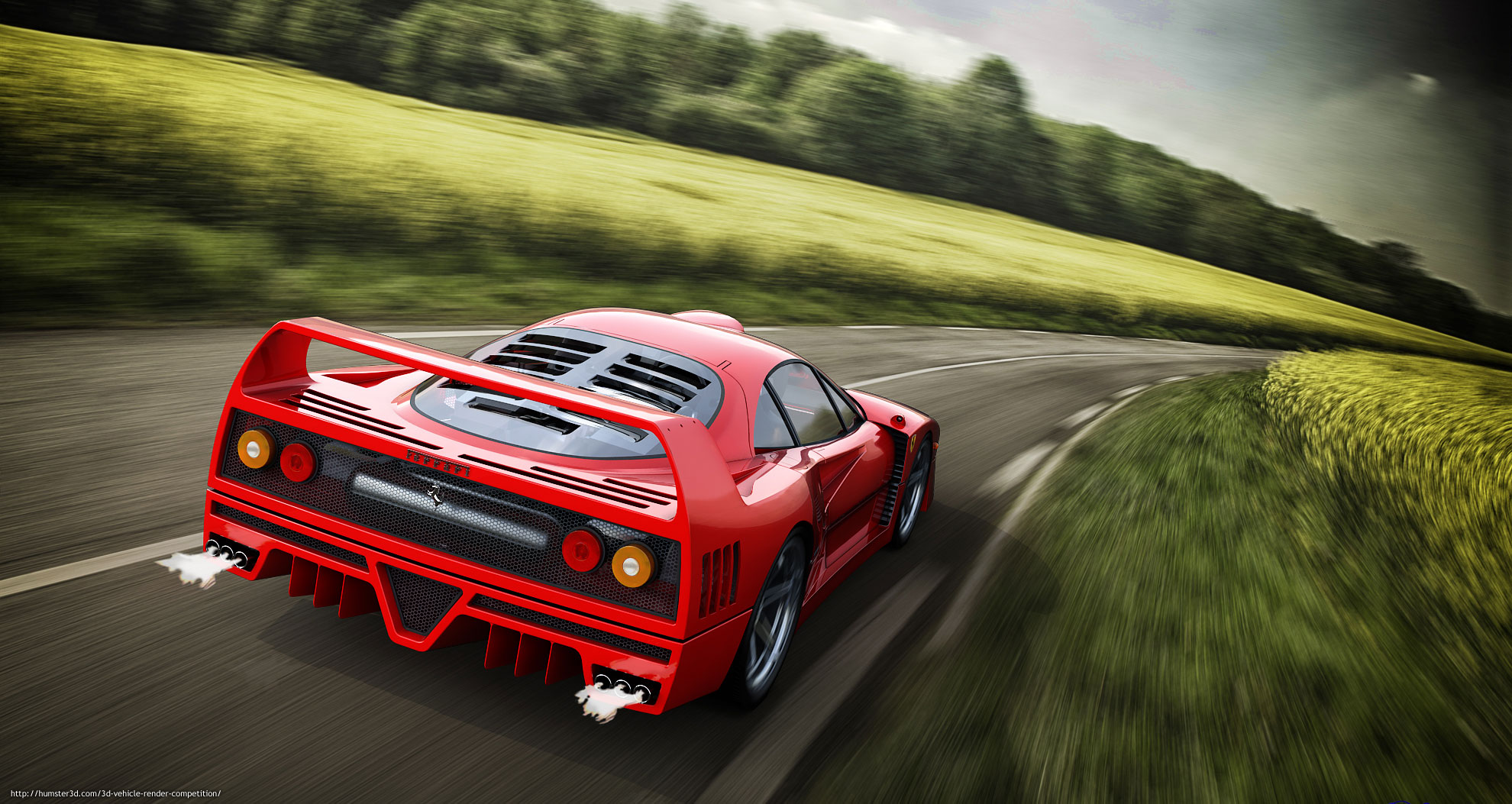 Ferrari F40 3d art
