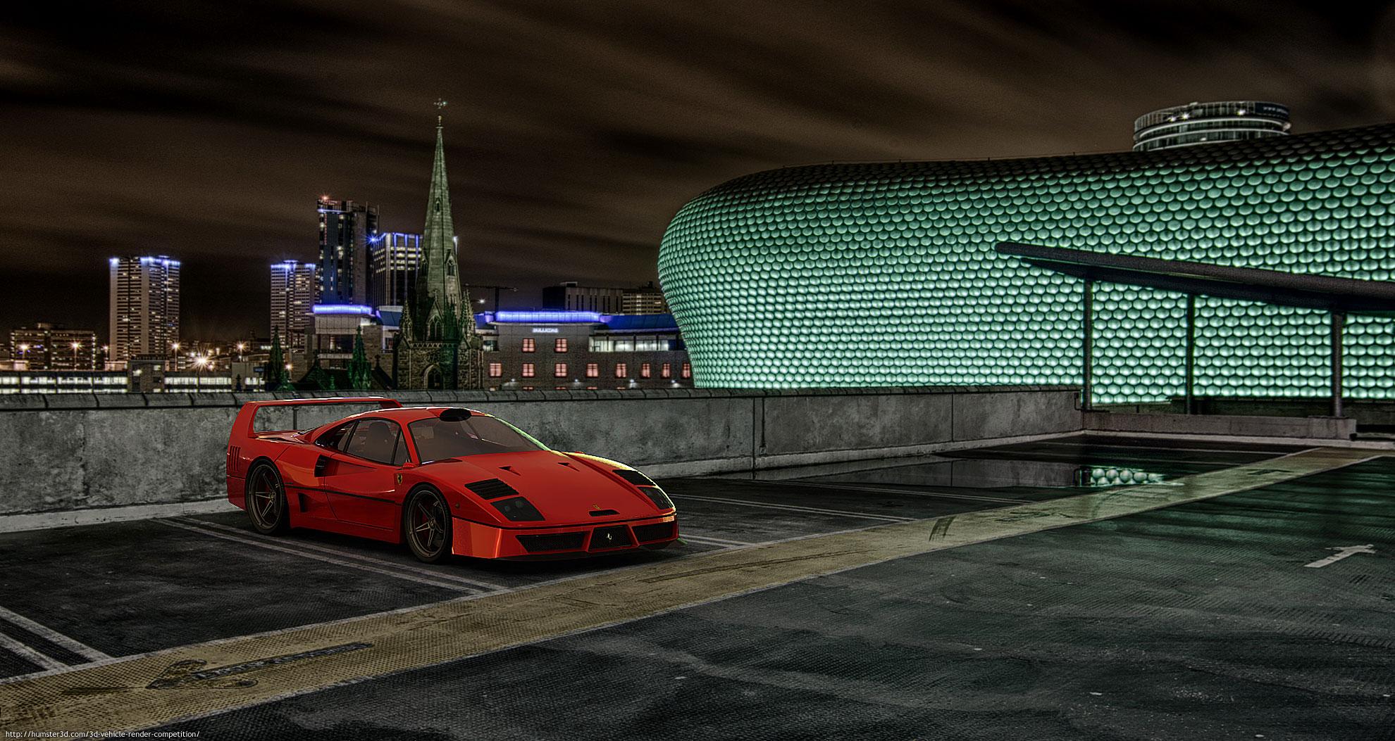Ferrari F40 model 3d art