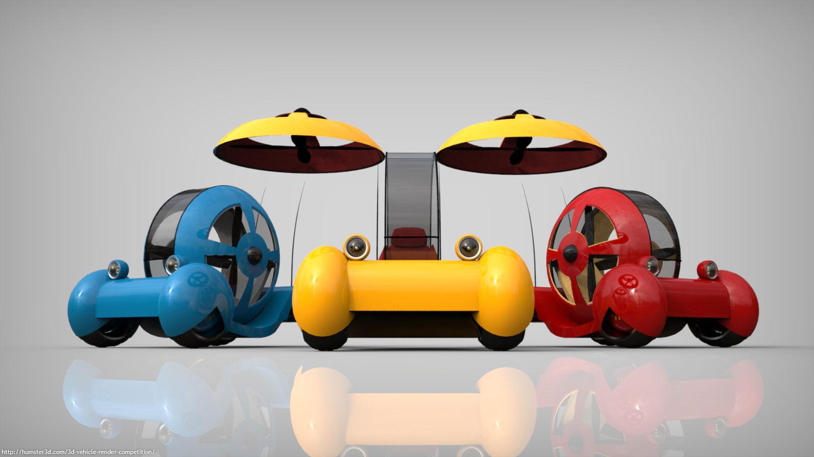 Future Car 3d art