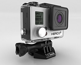 3D model of GoPro HERO3+