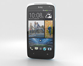 3D model of HTC Desire 500 Glacier Blue