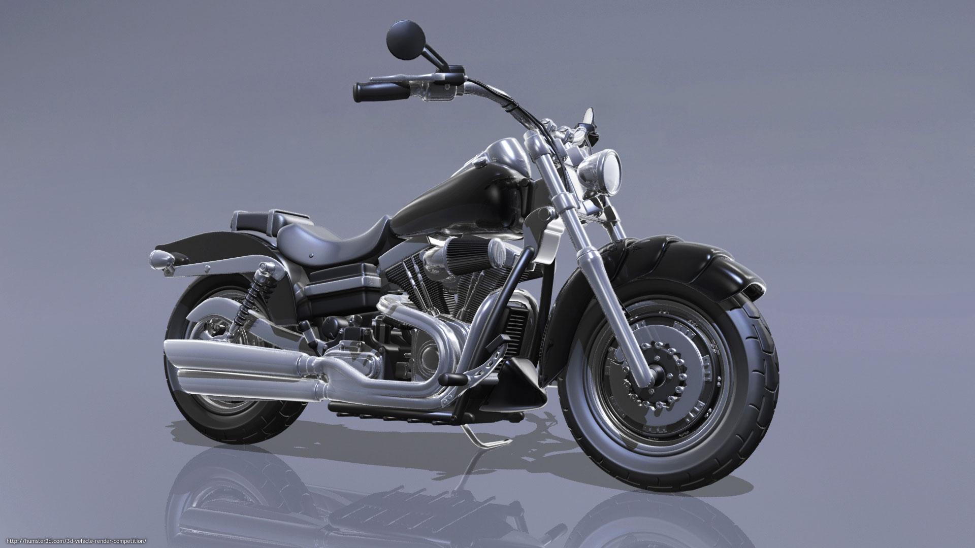 Custom Harley Davidson 3d art