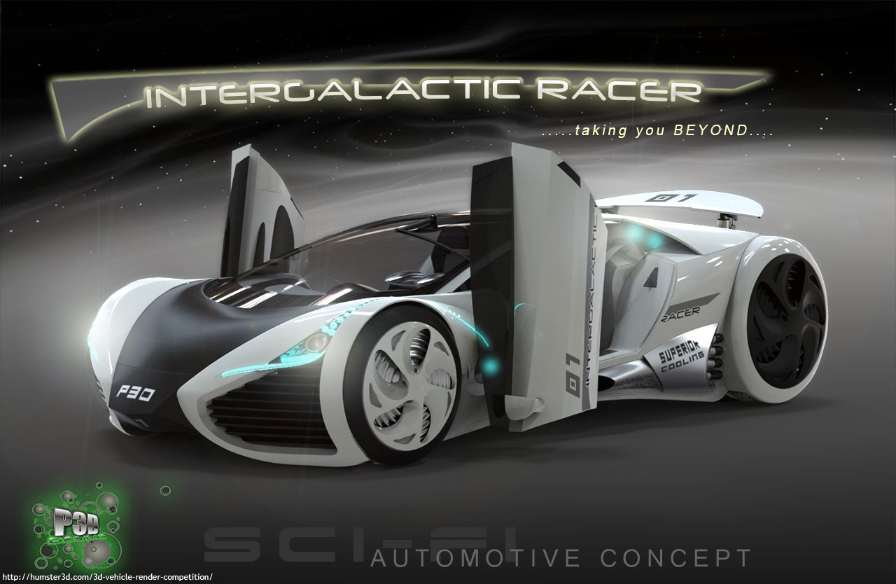 Intergalactic Racer (Concept) 3d art