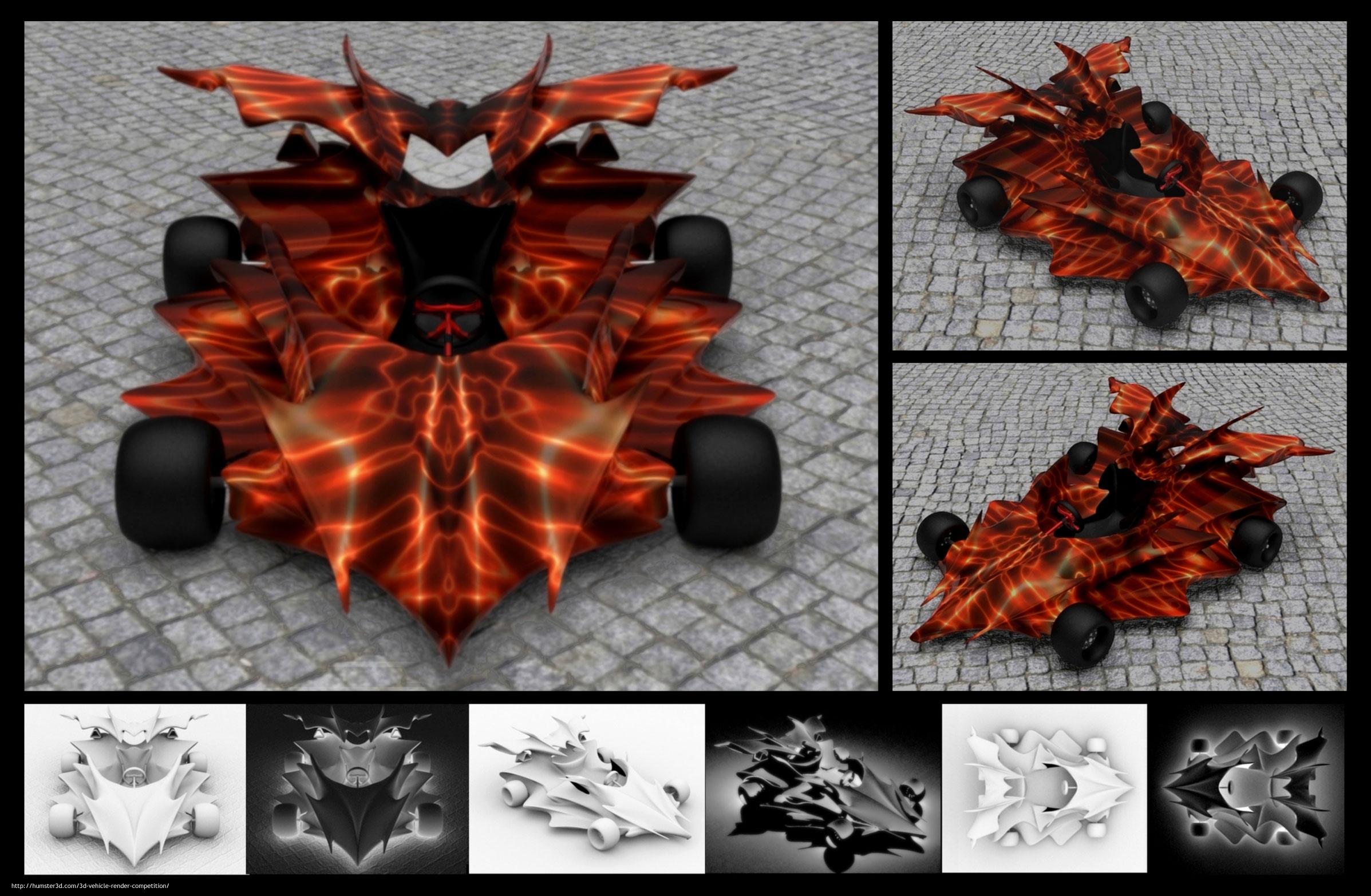 Spacecar 3d art
