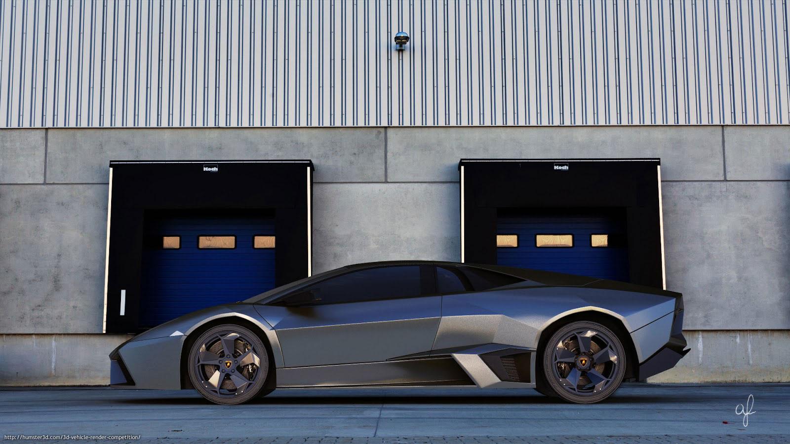 The Lamborghini Reventon 3d art