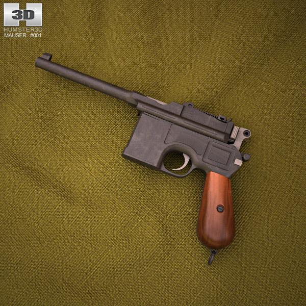 3D model of Mauser C96