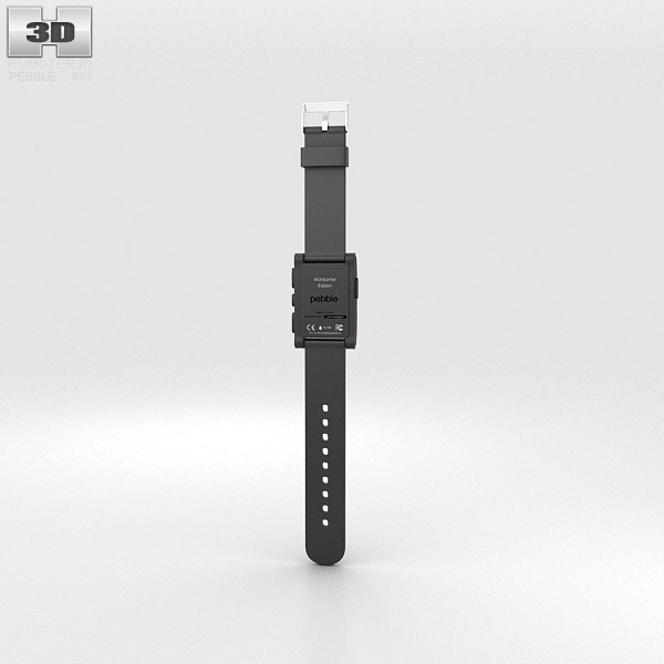 Pebble E-Paper Watch 3d model