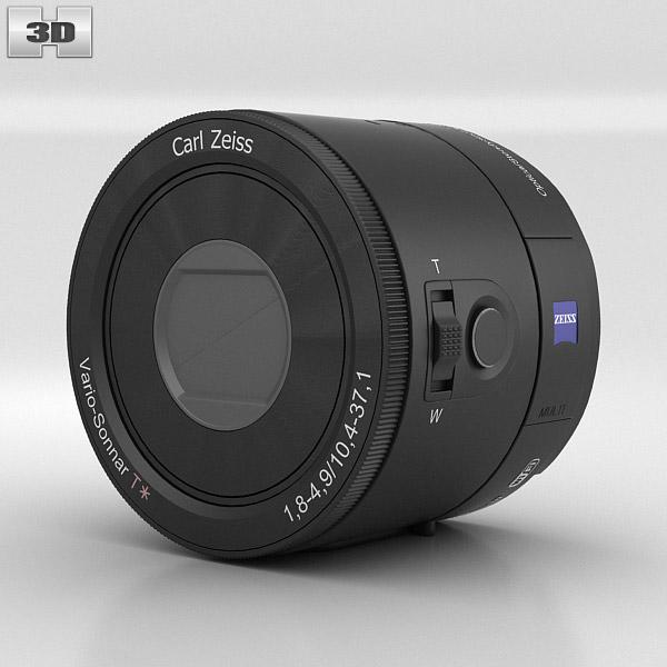 Sony DSC QX100 lens module 3D model