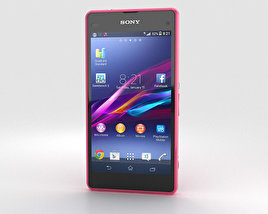 3D model of Sony Xperia Z1 Compact Pink