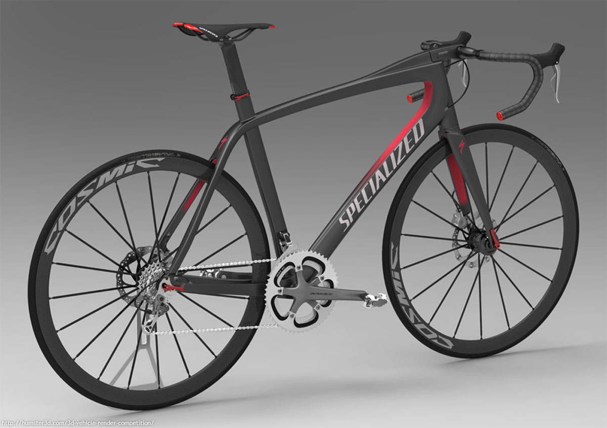Specialized road bike concept 3d art