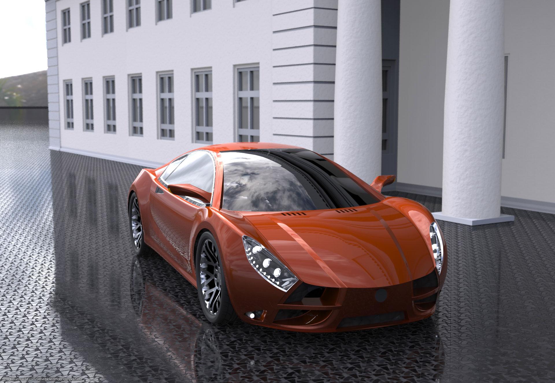 Sportscar concept 3d art