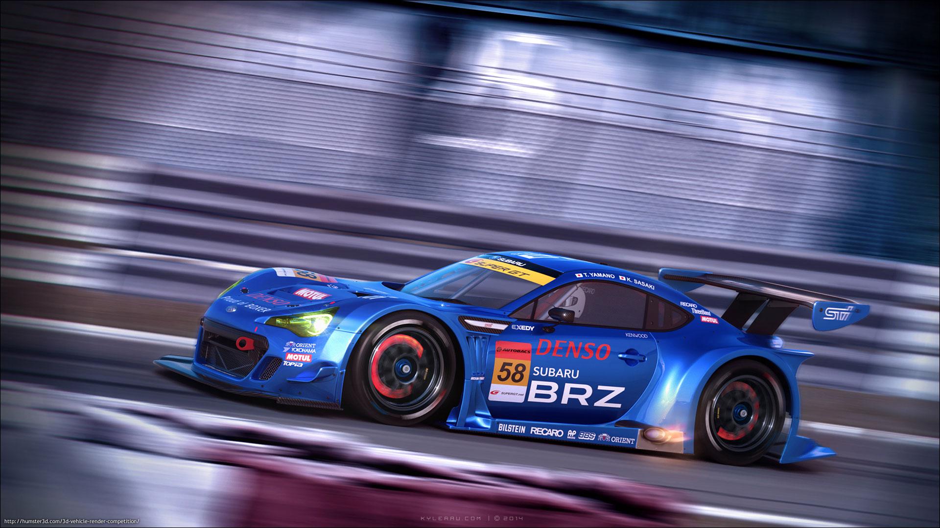 Subaru BRZ 3d art