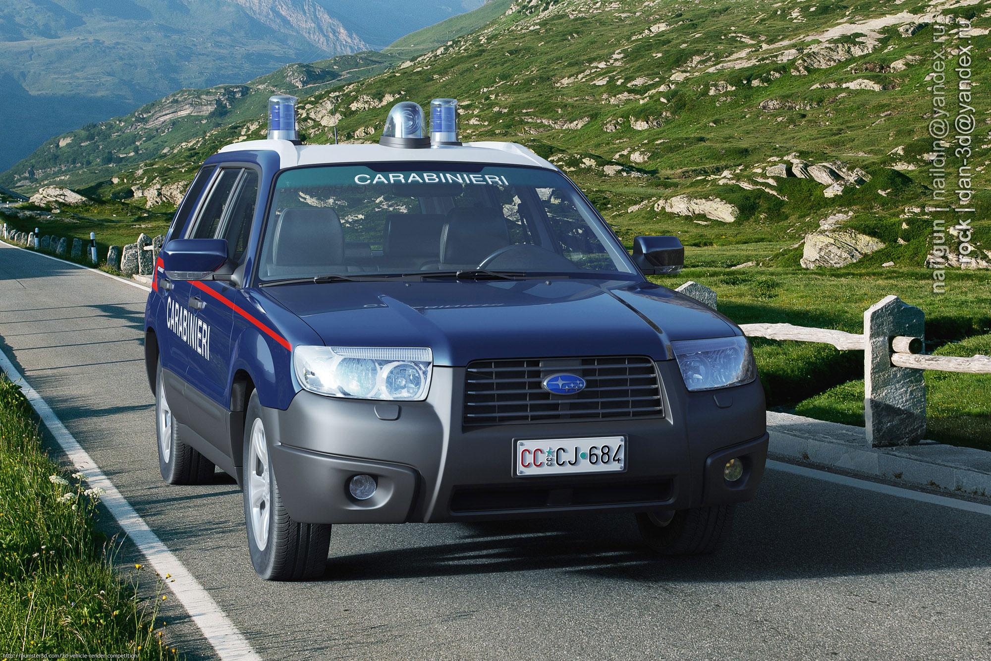 Subaru Forester Police 3d art