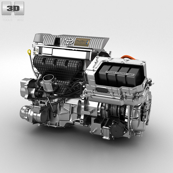 3D model of Toyota Hybrid Engine
