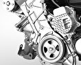 Toyota Hybrid Engine 3d model