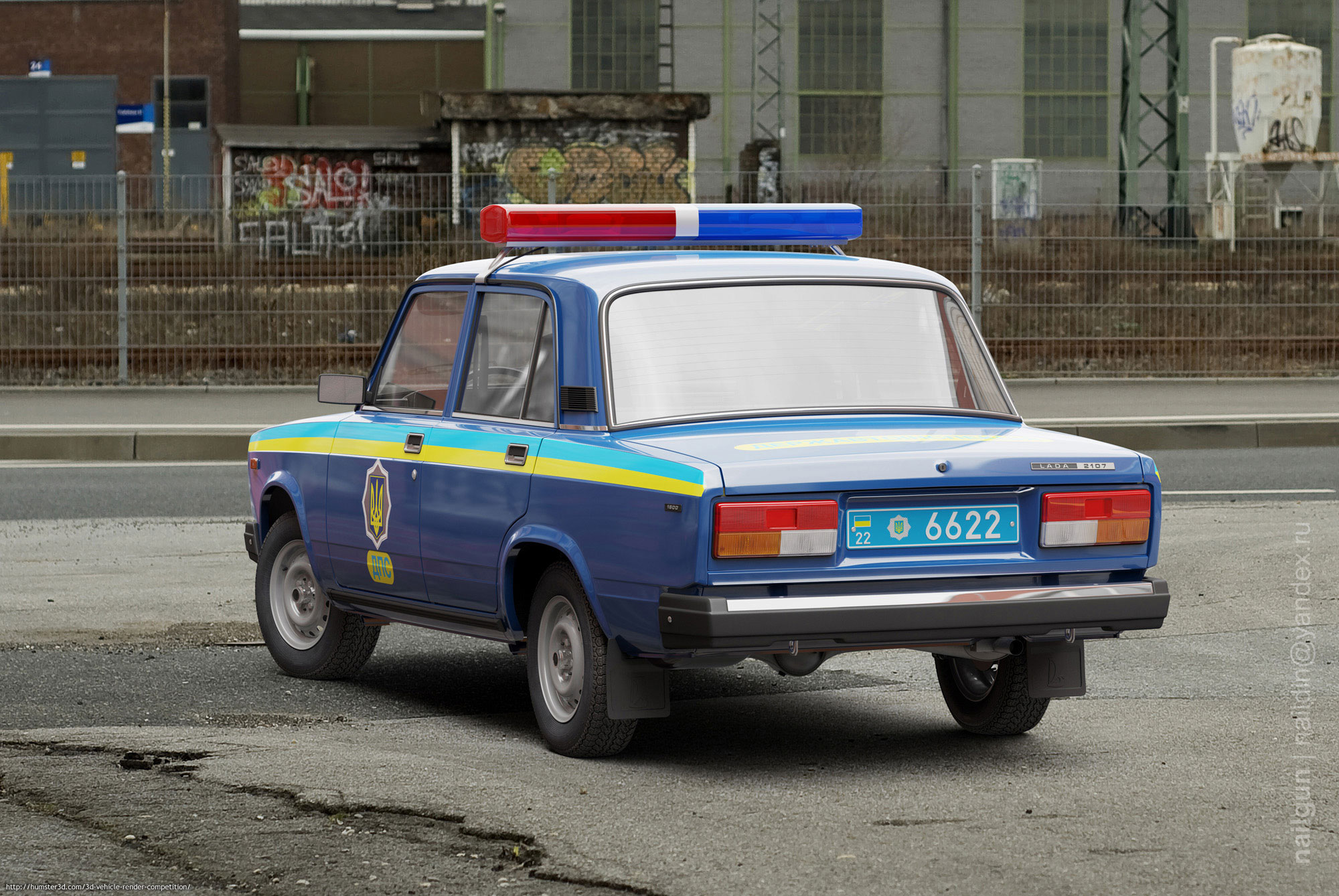 VAZ-2107 Ziguli DAI Ukraine 3d art