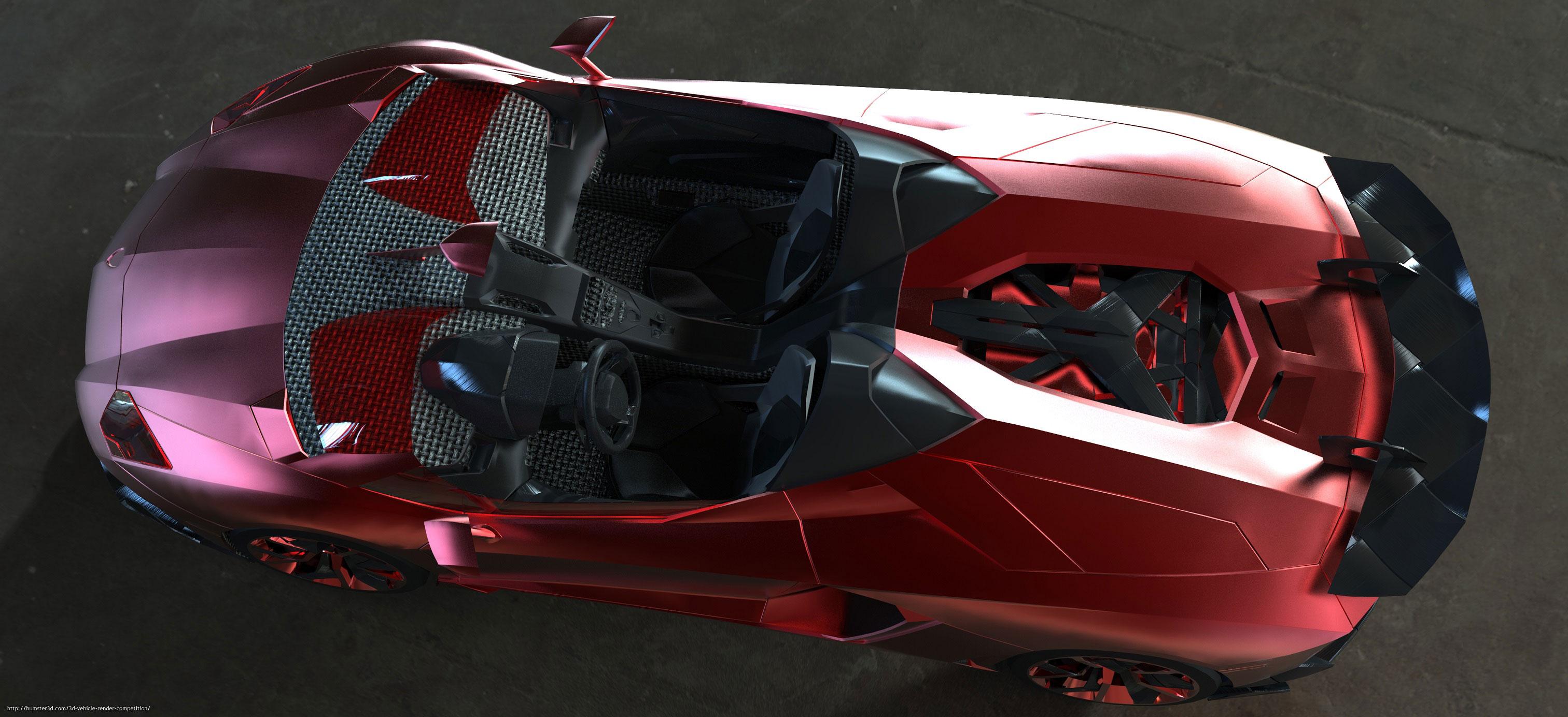 Aventador J 3d art