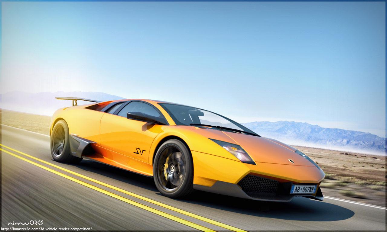 CG rendering of Lamborghini murcielago lp670-4 sv 3d art