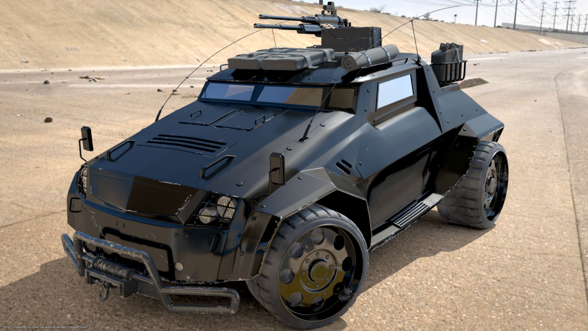 The Light Assault & Recon Vehicle (LARV) 3d art