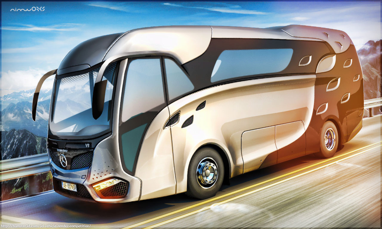 Concept rv for Mercedes Benz 3d art