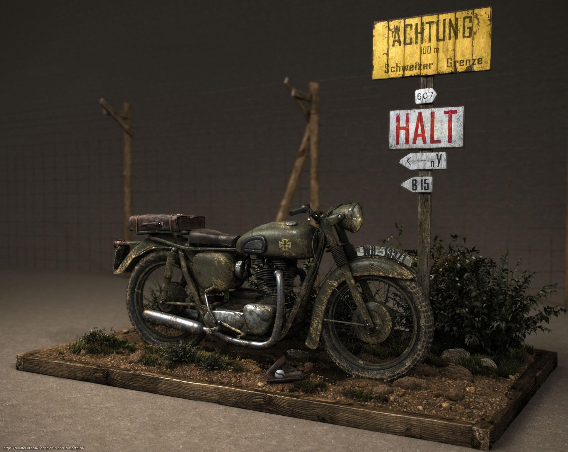 Triumph Bonneville 3d art