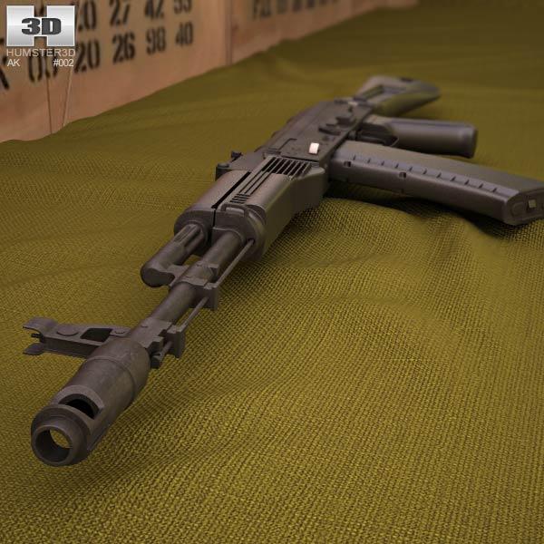 AK-74M 3d model