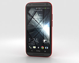 3D model of HTC Desire 601 Red