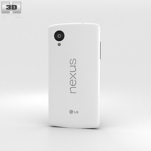 LG Nexus 5 White 3d model
