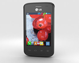 3D model of LG Optimus L1 II TRI Black