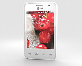 3D model of LG Optimus L3 II Dual E435 White