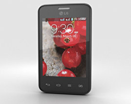 3D model of LG Optimus L3 II Dual E435 Black