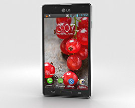 3D model of LG Optimus L7 II P713 Black