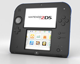 3D model of Nintendo 2DS Black + Blue