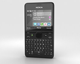 3D model of Nokia Asha 210 Black