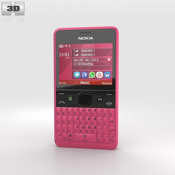 Nokia Asha 210 Pink 3D model